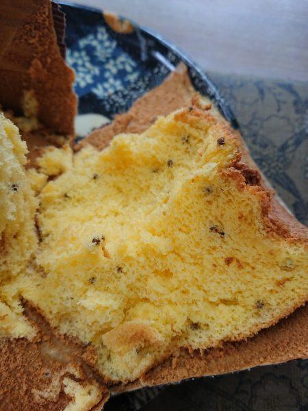 美味しい米粉シフォンケーキ。