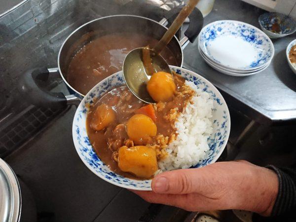 会津コシヒカリで作るカレーライス