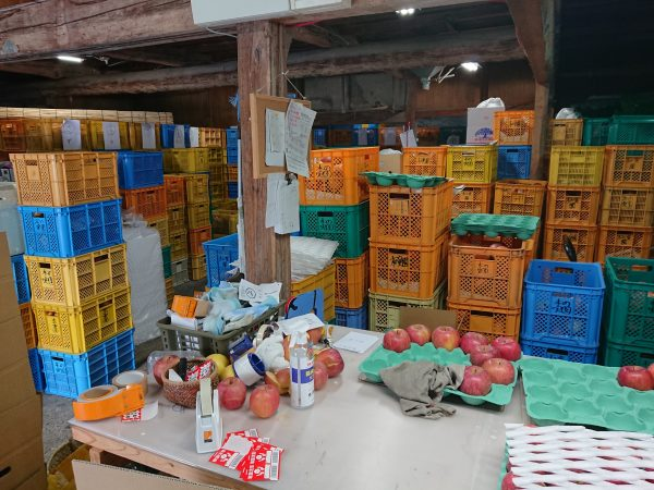 リンゴの倉庫