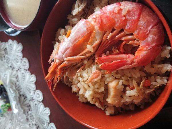 デカい海老の海鮮五目ご飯(会津米20キロは送料無料)