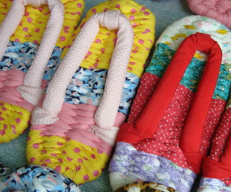 Colorful cloth Japanese sandals